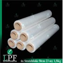6x Wickelfolie transparent 1,5Kg, 500mm LPF